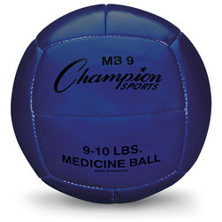 4-Kilo Leather Medicine Ball - Blue
