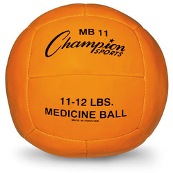 5-Kilo Leather Medicine Ball - Orange
