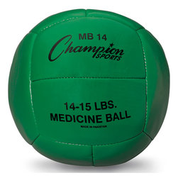 7-Kilo Leather Medicine Ball - Green