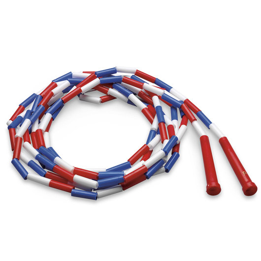 16-ft. Plastic Segmented Rope - Red, White & Blue