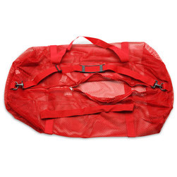 Oversized Mesh Duffle Bag - Red