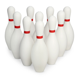 Weighted Bowling Pin Set