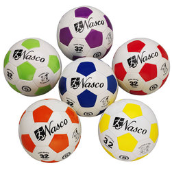 Size 5 Hand-Sewn Soccer Balls - 6-Color Set