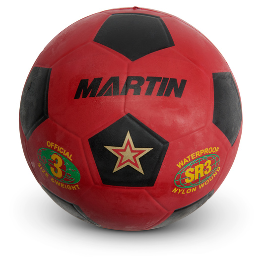 Size 3 Rubber Soccer Ball - Red