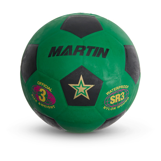 Size 3 Rubber Soccer Ball - Green