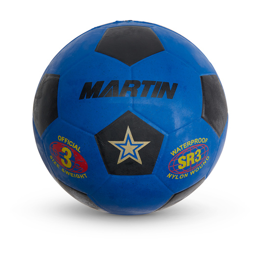 Size 3 Rubber Soccer Ball - Blue