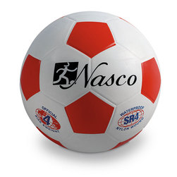 Size 4 Rubber Soccer Ball - Red