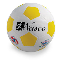Size 4 Rubber Soccer Ball - Yellow