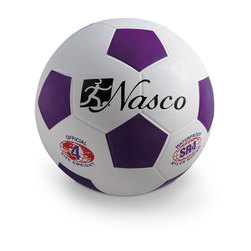Size 4 Rubber Soccer Ball - Purple
