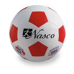 Size 5 Rubber Soccer Ball - Red