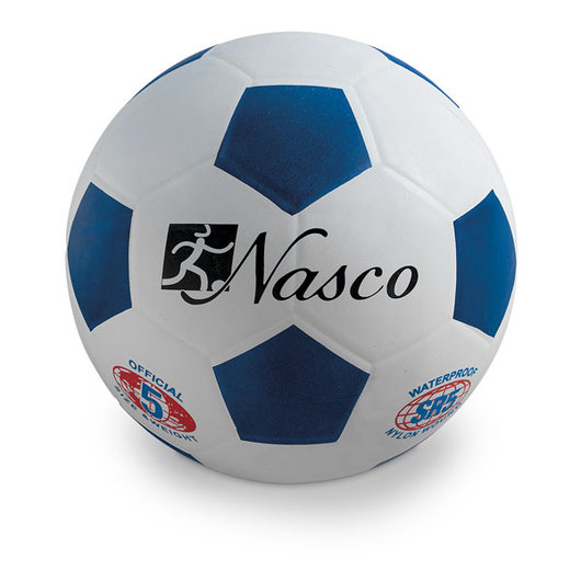 Size 5 Rubber Soccer Ball - Blue