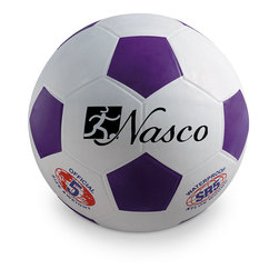 Size 5 Rubber Soccer Ball - Purple