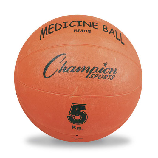 Champion Rubberized Medicine Ball - 5 kg. (10-lb.), Orange