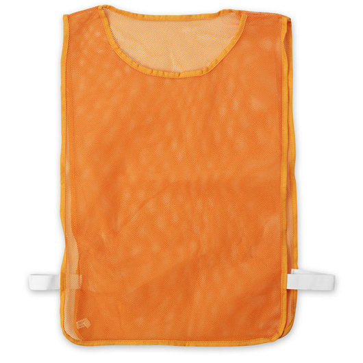 Adult-Size Nylon Mesh Pinnie - Orange