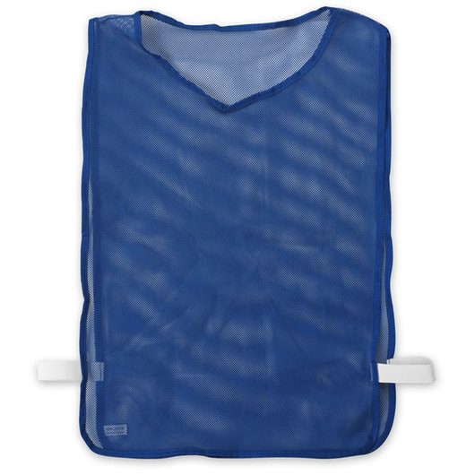 Adult-Size Nylon Mesh Pinnie - Blue
