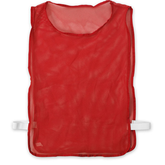 Adult-Size Nylon Mesh Pinnie - Red