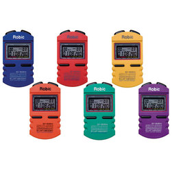 Robic SC-505 Multi-Mode Chronograph 12-Lap Memory Stopwatches - Set of 6