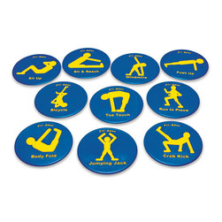 9 in. Fitness Spots - Set of 10