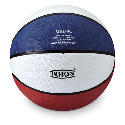 Tachikara® Intermediate Basketball - Men's Size 7 (29-1/2 in.) - Red/White/Blue