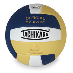 Sensi Tec Indoor Volleyball by Tachikara - Navy/White/Vintage Gold