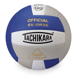 Sensi Tec Indoor Volleyball by Tachikara - Royal/White/Silver