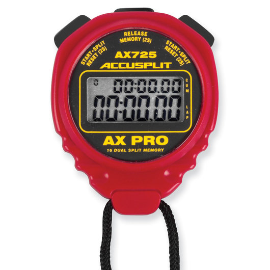 Accusplit® AX725 PRO 16 Memory Stopwatch - Red