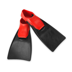 Finis Floating Fins - Size 7-1/2 - 9, Red & Grey