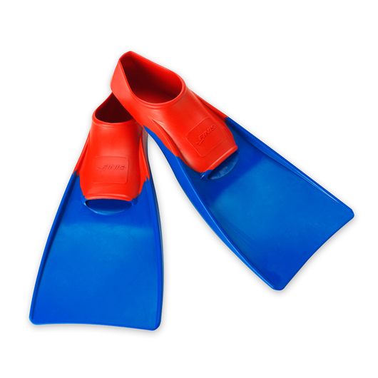 Finis Floating Fins - Size 5-1/2 - 7, Red & Blue