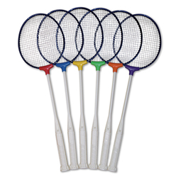 Pick-A-Paddle Institutional Badminton Racquets - Set of 6 Colors