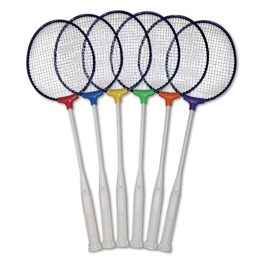 Pick-A-Paddle® Institutional Badminton Racquets - Set of 6 Colors