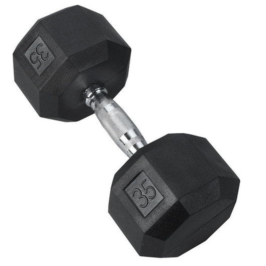 Chrome Dumbbell - 35 lbs.