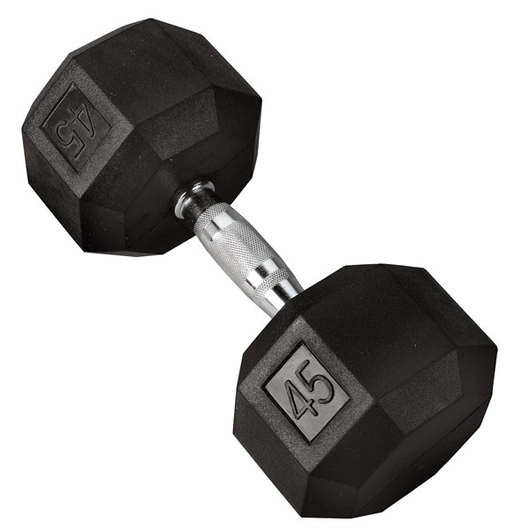 Chrome Dumbbell - 45 lbs.