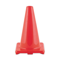 Champion® Hi Visibility Flexible Orange Vinyl Cone - 9 in.
