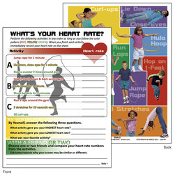 Nasco What's Your Heart Rate Tablet - 8-1/2 in. x 11 in. - Pad of 50