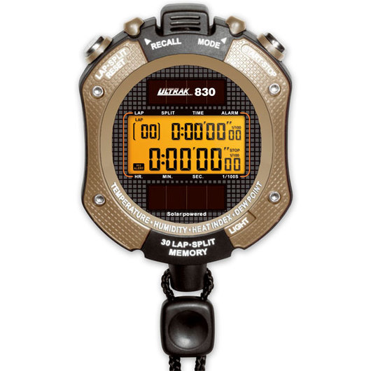 Ultrak® 830 Solar-Powered Heat Index Stopwatch