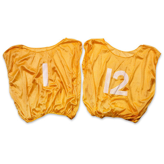 Numbered Scrimmage Vests - Adult Size, Gold