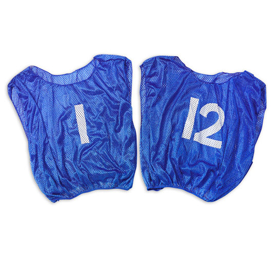 Numbered Scrimmage Vests - Youth Size, Royal