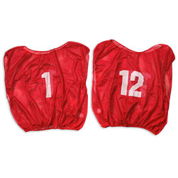 Numbered Scrimmage Vests - Youth Size, Scarlet