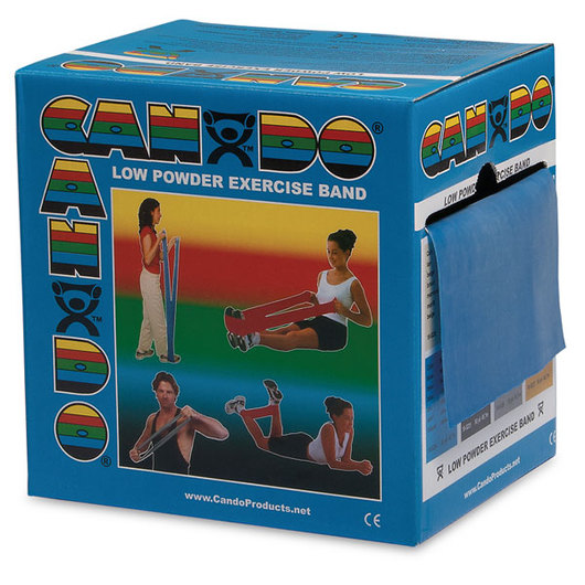 Low Powder Exercise Band, Heavy - Blue