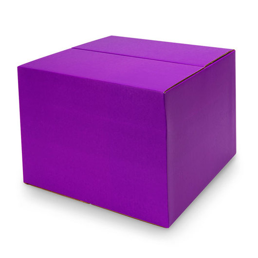Large Purple Economy Cardboard Box