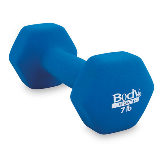 Body Sport® Neoprene Colored Dumbbell, 7 lb., Blue