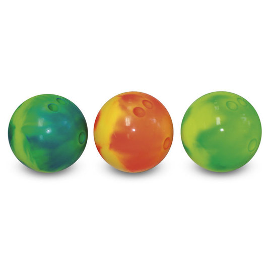 MAC-T® 4-lb. Vinyl Rubber Bowling Ball - Electric Orange/Yellow