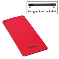 Aeromat™ Elite Workout Mats with Eyelets and Hanging Rack - Red