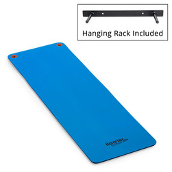 Aeromat™ Elite Workout Mats with Eyelets and Hanging Rack - Blue