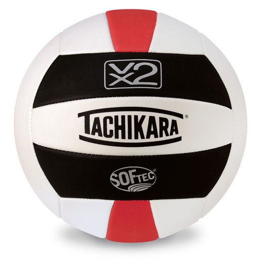 Tachikara® SofTec® VX2 Volleyball - Black/White/Scarlet