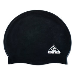 Silicone Swim Cap - Black