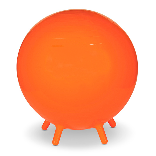 MAC-T® Inflatable Exercise Ball with Legs - 22 in. Diameter - Orange