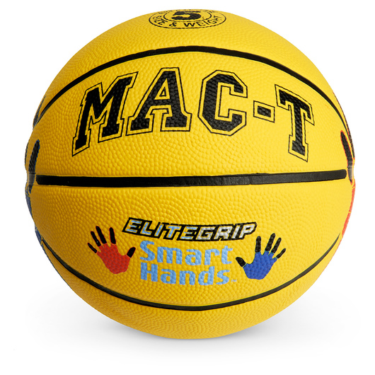 MAC-T® Elite Grip™ Smart Hands Basketball - Size 5 - Yellow