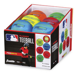 Franklin® MLB® Neon Rubber Teeballs - Set of 12