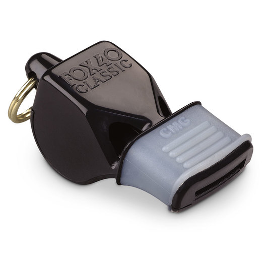 Classic Fox 40® Whistle with Cushioned Mouth Grip - Black